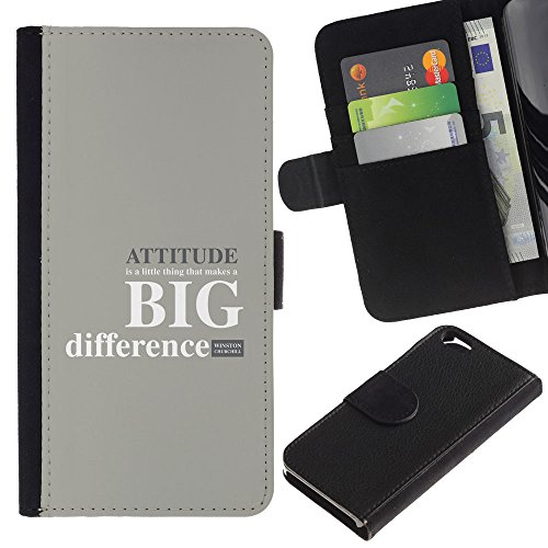 OMEGA Case / Apple Iphone 6 4.7 / MAKE A DIFFERENCE TODAY / Cuir PU Portefeuille Coverture Shell Armure Coque Coq Cas Etui Housse Case Cover Wallet Credit Card