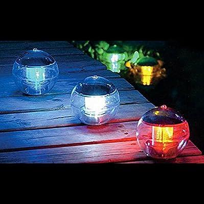 VANKER 1Pc Colorful- Garden Yard Lawn Path Swimming Pool Waterproof Solar Power LED Light Decor Lamp