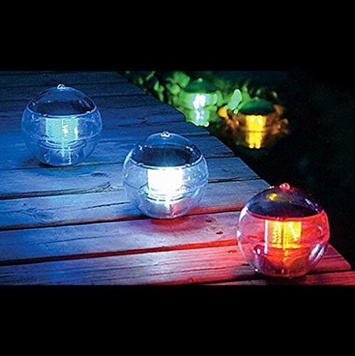 VANKER 1Pc Colorful- Garden Yard Lawn Path Swimming Pool Waterproof Solar Power LED Light Decor Lamp (Lamp Solar China)
