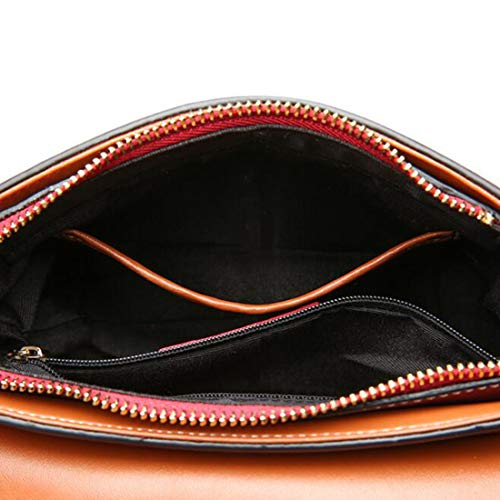 tracolla da in colore per mano Borsa pelle vera rosso a a Borsa donna di Zebuakuade Marrone borse Agqwzx5E