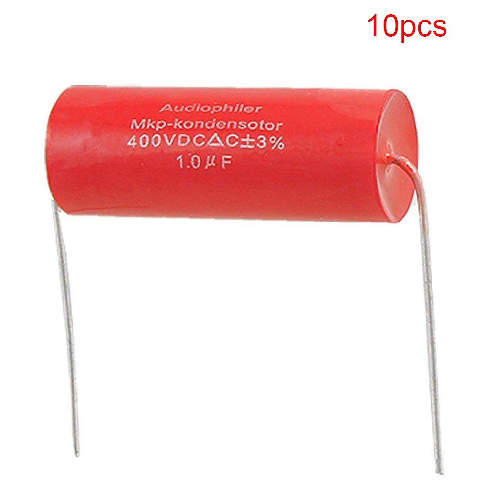 Yohii 1uF 3/% 400V DC Aluminum Electrolytic Tubular Audio Capacitor 10PCS /&