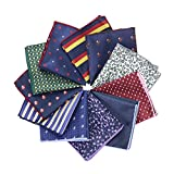 Handkerchiefs Men's Suit Polyester Pocket Square for Wedding Hankies 10 PCS/LOT