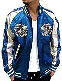 Isshinnyokyou Men's Sukajan Embroidered Souvenir Jacket Japan (Medium, 93 Dragon/Blue)