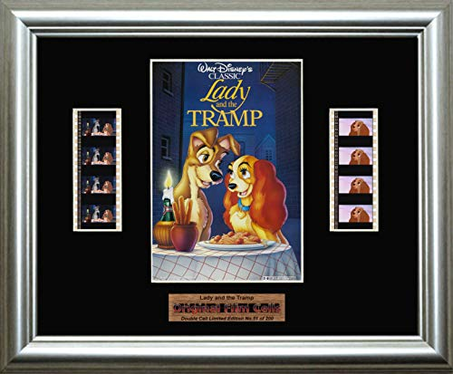 - Lady and the Tramp Disney - Framed double filmcell picture (sd)