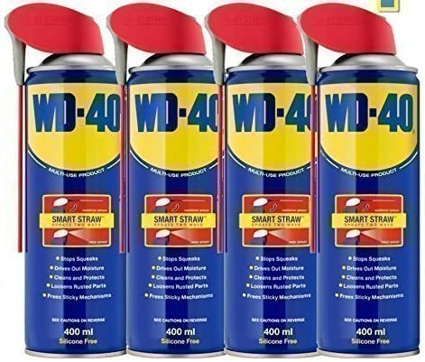 4 caplets Wd40 paja inteligente 400 ml aceite lubricante WD-40 mantenimiento: Amazon.es: Bricolaje y herramientas
