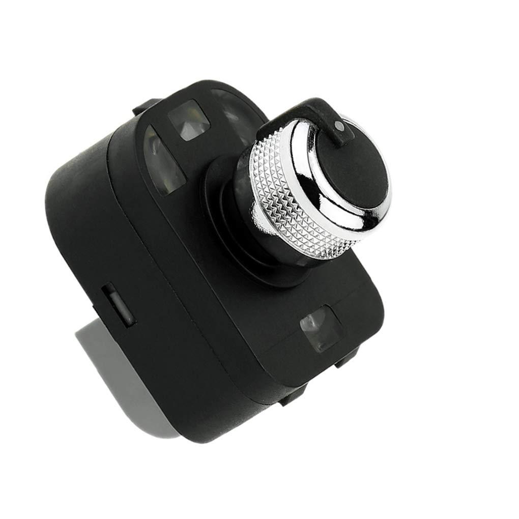 Lorsoul Fachada Lateral de Control Espejo bot/ón Interruptor de Ajuste Perilla 4F0959565 Coche Accesorios Interior