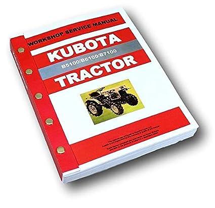 Amazon.com: Kubota B5100 B6100 B7100 - Cuaderno manual de ...
