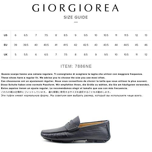 Classic Chaussures REA Mocassins Cuir Noir Homme Italiennes Classique Mâle Oxford Main Élégant Car Shoes Noir GIORGIO Shoes 6q5df6