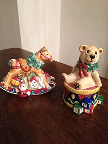 Floyd Old Fashioned - Fitz and Floyd Old Fashioned Christmas Salt Pepper Set