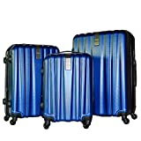 3 Piece Luggage Set Durable Lightweight Hard Case Spinner Suitecase LUG3-HD1603-DARK BLUE