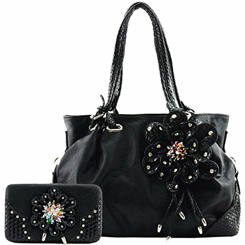 Blancho Bedding Womens [de vrouw] PU Leather Fashion Bag Elegant Purse COMBO-BLACK jMGPGy