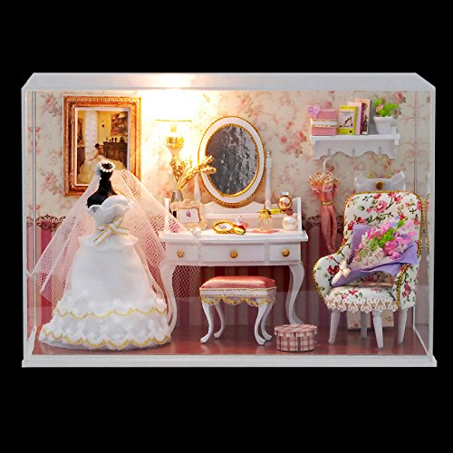 SICA CuteRoom T-001 Love You Forever DIY Dollhouse Kit Miniature Model With Light Cover