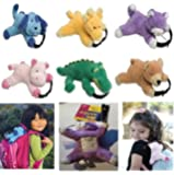 Party bag animal soft toy x 10 assorted detachable bag back pack luggage labels