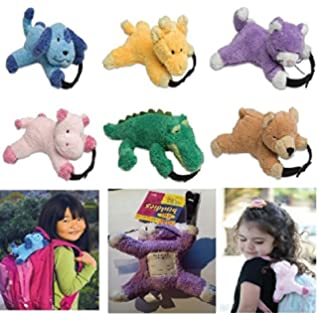 4c7399fa3b4 Party bag animal soft toy x 10 assorted detachable bag back pack luggage  labels