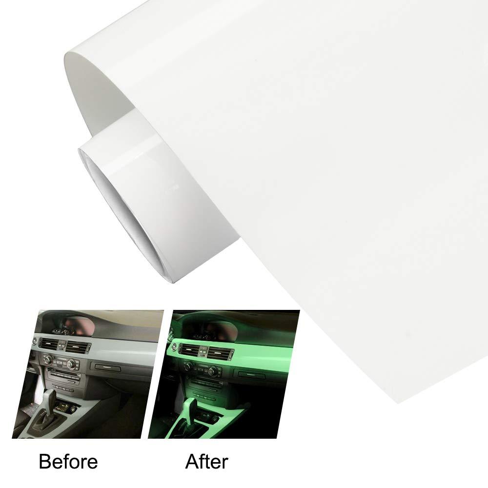 TECKWRAP Green Glow in The Dark Adhesive Car Vinyl Wrap Air Release 11.5x 55