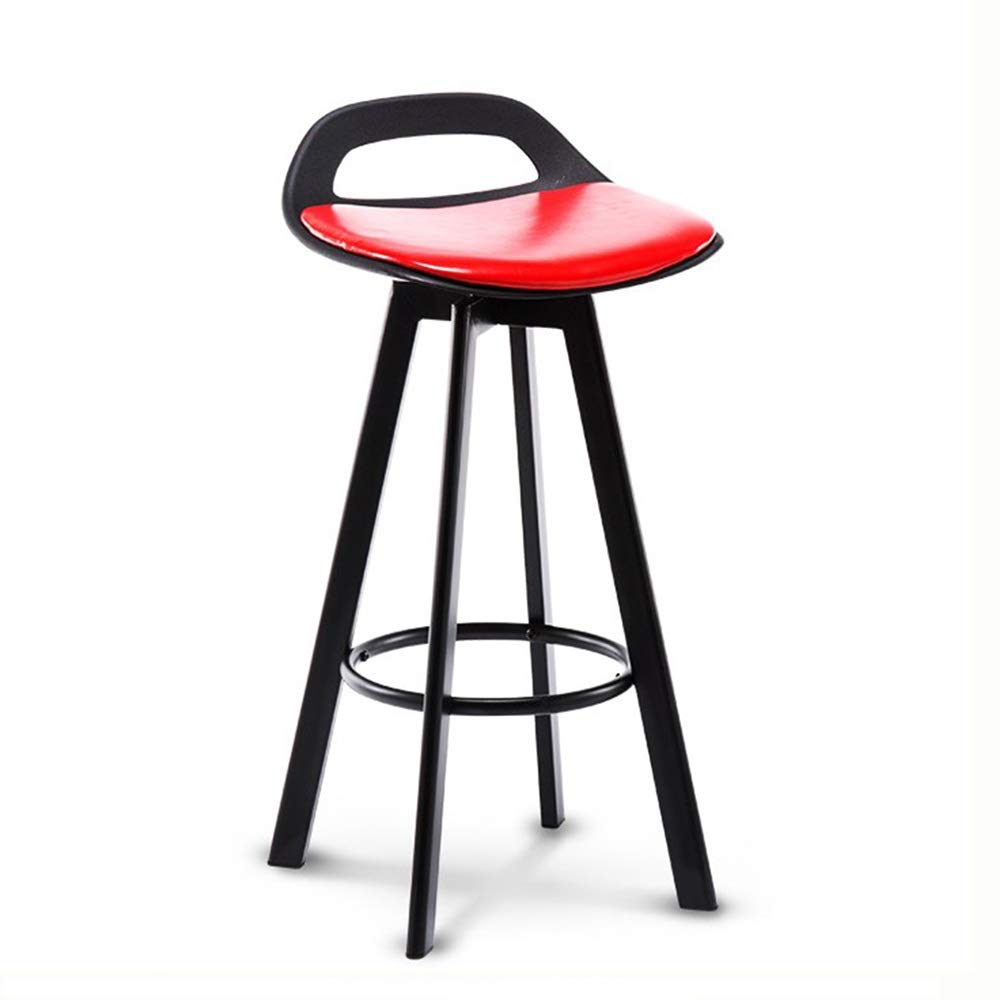 RED Black bracket XRXY Bar Chair, High Stool, Lifting Roatable Chair, Bar Stool, Backrest Stool, 6 colors, for Breakfast Bar, Counter, Kitchen and Home Barstools (color   RED, Size   Black Bracket)