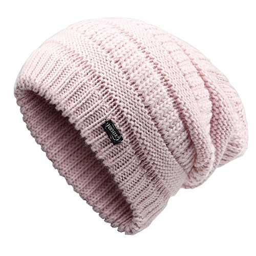 FURTALK Women Soft Warm Thick Slouchy Knit Wool Beanie Hat Ski Cap