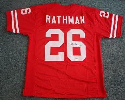 Signed Tom Rathman Jersey - Nebraska Cornhuskers Red - JSA ...