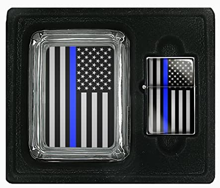 Interior Accessories Blue Lives Matter Square Glass AshTray and ...