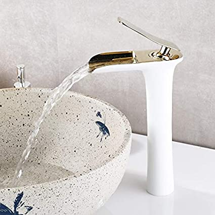 Empuje eDealMax de rosca de plástico Dispensador de agua Grifo con 15 mm de diámetro interior, Azul Blanco - - Amazon.com
