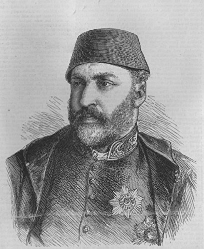 TURKEY. Abdülaziz I. Abd-Ul-Aziz, Sultan. Deposed 1876. Committed suicide - 1876 - old antique vintage print - engraving art picture prints of Turkey Royalty - The Graphic