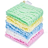 Kyapoo Baby Muslin Washcloths Absorb in 3 Seconds and Dry, Towels Premium Extra Soft Newborn Baby Face Towel, Baby Registry as Shower Gift 5 Pack Larger Image