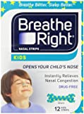 Breathe Right Nasal Strips For Kids, 12-Count Boxes (Pack of 3)
