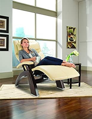 "Perfect Chair ""PC-610 Omni-Motion Classic"" Premium Full Grain Leather Zero-Gravity Hand-Crafted Walnut Recliner"