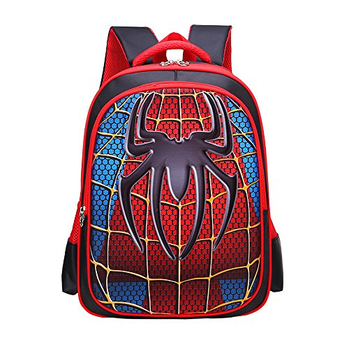 School Backpack for Boys Kids Schoolbag Student Bookbag Rucksack Waterproof Shoulder Bag Daypack with Anime Super Hero (A03, Small:15x11x4.7 in)