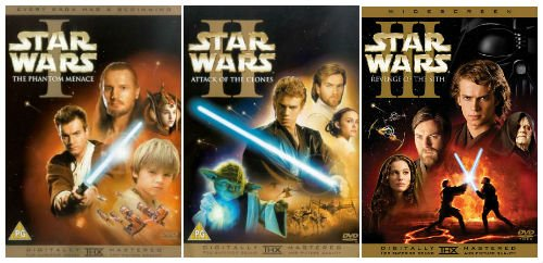 The Complete Star Wars Prequel Trilogy 1 - 3 DVD Movie Collection ...
