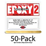 Hardman Double Bubble Red Epoxy2 - Extra Fast Setting (3-5 minute) Non-Sag/No-Drip (Thixotropic) Epoxy Gel 50 Packs (#04008)