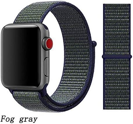 JWJY ユニバーサル・ウォッチバンド44ミリメートル40ミリメートル42ミリメートル38ミリメートルのナイロンブレスレット時計バンド44/42 (Band Color : Fog gray, Band Width : 42mm or 44mm)