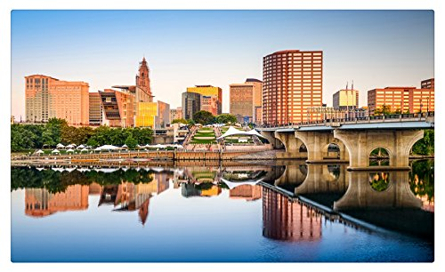 USA Houses Rivers Bridges Hartford Connecticut Citiess travel sites Postcard Post ()