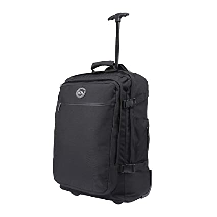 Cabin Max® - Quebec Hybrid Trolley Backpack - Cabin Bag 55 x 40 x 20 with  Zip Out Backpack Straps (Black) (Black)  Amazon.co.uk  Luggage e0c1b8e5e29f1