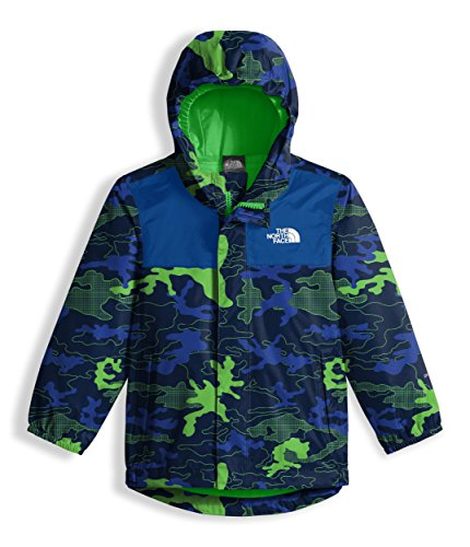The North Face Toddler Tailout Rain Jacket - Cosmic Blue Griddy Woodland Camo Print - 2T -
