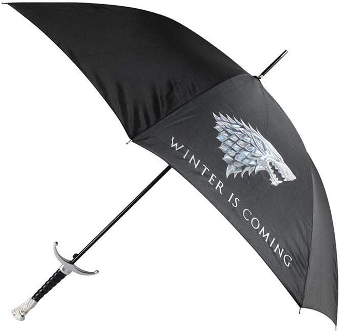 Paraguas con Mango de Espada de Cabeza de Lobo Creatividad con Mango Largo Paraguas con Espada de Personalidad de Tendencia Paraguas de Juego Correcto