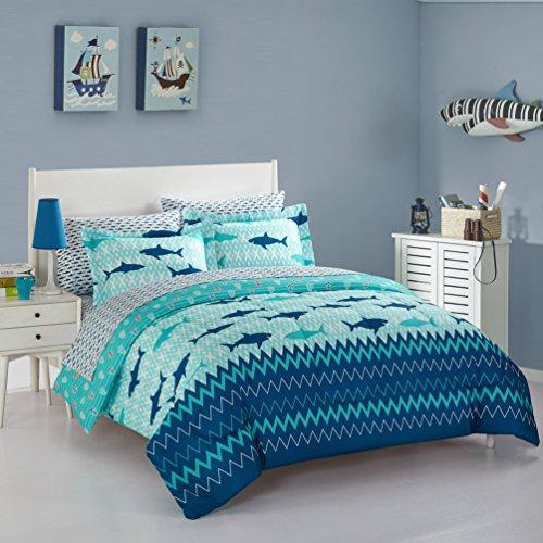 (Idea Nuova Sea Shark Bed in A Bag, Twin, Multi)