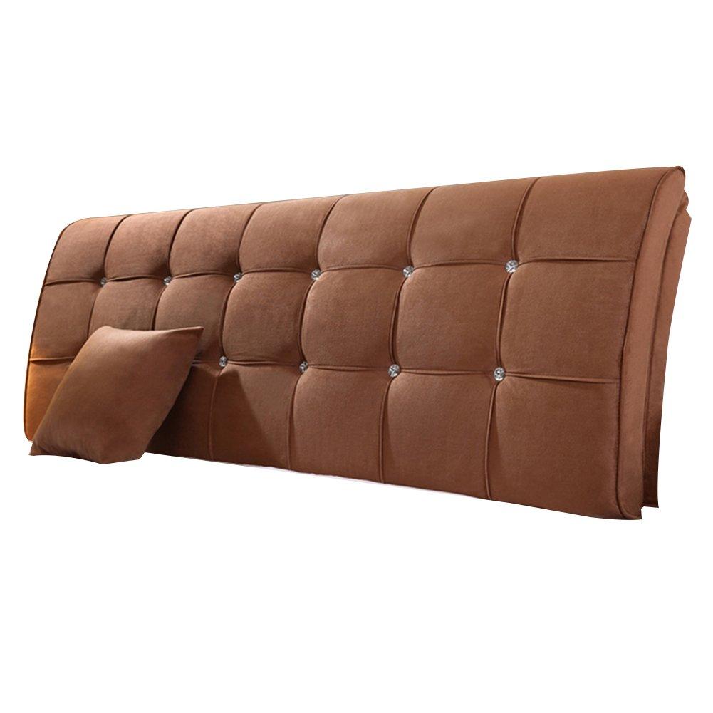 HAIPENG クッション ベッドの背もたれ 曲がった ベッド バックレスト クッション ヘッドボード 腰椎 パッド 布張り 枕 柔らかい カバー ベッドサイド ソファー ダブル リムーバブル ウォッシャブル、 5色、 マルチサイズ (色 : ブラウン ぶらうん, サイズ さいず : 200x9x62cm) B07DNXK146 200x9x62cm|ブラウン ぶらうん ブラウン ぶらうん 200x9x62cm