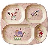 Kinder 4Zimmer Teller aus Melamin mit Mädchen Circus Print von Rice DK