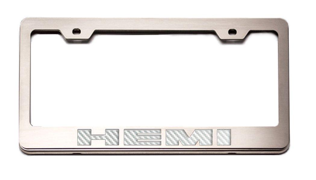 American Car Craft 152024-BLU Blue HEMI Rear Tag Frame Cf