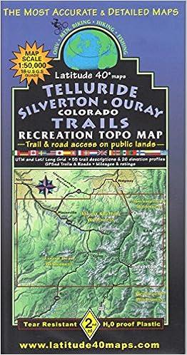 Telluride - Silverton - Ouray Colorado Trails Recreation Topo Map ...