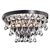Jojospring Natalia 2-Light Antique Black Crystal Wall Sconce For Sale