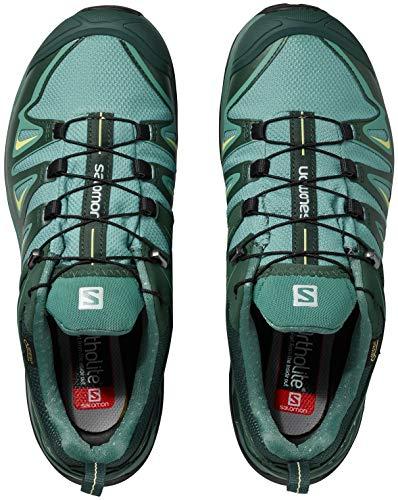 Salomon Women's X Ultra 3 Wide GTX Hiking Shoes, Artic/Darkest Spruce/Sunny Lime, 5.5 D(M) US by Salomon (Image #3)