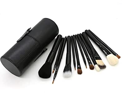 Brochas de maquillaje SRY-Makeup con estuche para brochas, limpiador para base de maquillaje, corrector, sombra de ojos, delineador de ojos, cepillo para cejas duradero: Amazon.es: Belleza