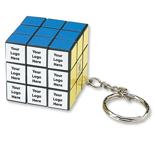 Micro Rubik's Cube Key Holder - 50 Quantity - $3.75 Each - PROMOTIONAL PRODUCT / BULK / Branded with YOUR LOGO / CUSTOMIZED