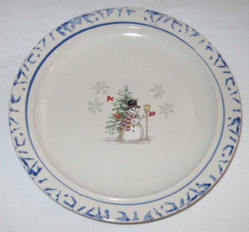 Christmas Snowman Stoneware Plate
