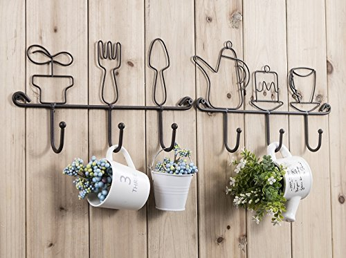 OMMITO Wall Mounted Hooks Rack,11 Inches Iron 3 Hooks Kitchen Home Restaurant Keys Coats Cups Decorative Small