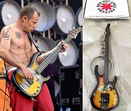 Amazon.com: Llavero Guitarra Bass Modulus Flea Bass Rojo Hot ...