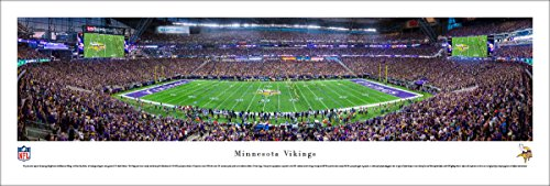 MN Vikings - 1st Game at US Bank Stadium - Blakeway Panoramas Unframed NFL Posters ()