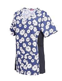 TAILOR'S Women's Printed Flex Scrub Top